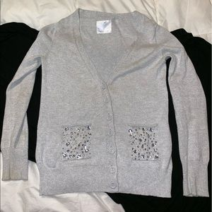Justice size 14 Cardigan   Silver beaded